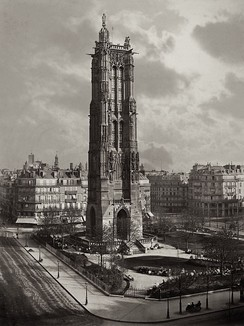La Tour St. Jacques La Boucherie à Paris by Charles Soulier, 1867