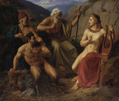 The musical dual of Pan and Apollo, by Laurits Tuxen