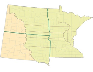 The nine original counties of the Minnesota Territory extended into what became North Dakota and South Dakota (left)