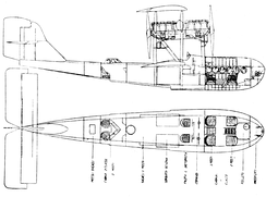 Macchi M.24 fuselage drawing from L'Air June 15,1927