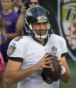 Schaub with the Baltimore Ravens