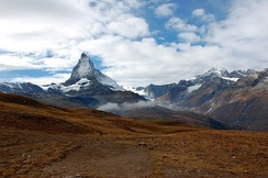 View of the Matterhorn located in Valais, Switzerland