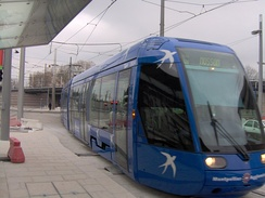 Line 1 of the tramway network, at the Corum stop.