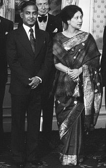 President Ziaur Rahman and erstwhile first lady Khaleda Zia being hosted by the Dutch royal family in 1979.