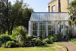 Winter garden at Myddelton House, London Borough of Enfield, England