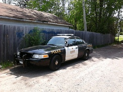 Current OPP cruiser with black & white graphics
