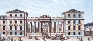 The neoclassical portal added by the Prince of Condé