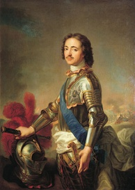 Portrait of Peter I of Russia (1672-1725). Under his reign, Russia looked westward. Heavily influenced by advisors from Western Europe, he implemented sweeping reforms aimed at modernizing Russia.