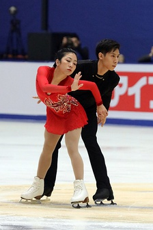 Wenjing Sui and Cong Han during their free skate from the 2017 Cup of China