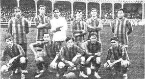 The Rosario Central squad that won the Copa Ibarguren after beating Racing Club. Central was the first Rosario´s team to be declared Argentine Champion, in 1915.