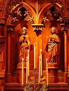 Detail of the Saint John's Hagerstown Reredos.
