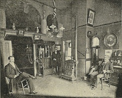 Offices of the Butterworth & Sons mortuary in Seattle, Washington, 1900