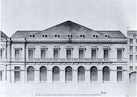 Facade of Moreau's opera house