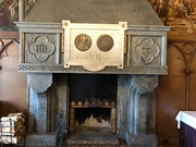 A fireplace of a sitting-room of Vytautas the Great at the Kaunas Garrison Officers' Club Building