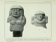 two carved figures from ancient Peru