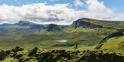 Looking South over the Quiraing on the Isle of Skye.