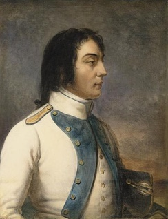 Desaix in the uniform of a captain of the 46th infantry regiment in 1792, by Charles de Steuben.