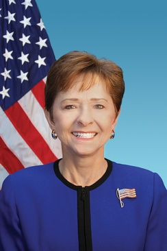 Sue Myrick, who was re-elected as the U.S. Representative for the 9th district