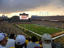 TCF Bank Stadium replaced the Hubert H. Humphrey Metrodome as the Gophers' home stadium in 2009.