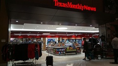 Texas Monthly News shop at George Bush Intercontinental Airport in Houston