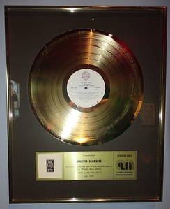 Gold disc for The Last Waltz (1978)