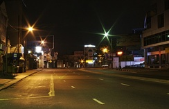 Colombo's streets at night