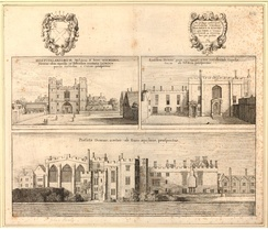 Priory of St John at Clerkenwell, London in 1661, by Wenceslaus Hollar
