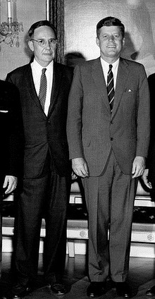 Tom V. Moorehead with JFK May 25 1961.jpg