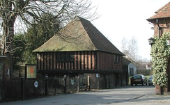 16th-century town hall in Fordwich, Kent, England, closely resembling a market hall in its design