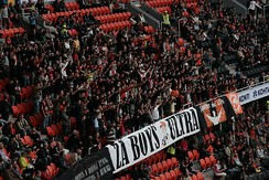 Fans of Shakhtar Donetsk in the Donbass Arena