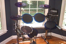 Basic electronic drum set made by Pintech.