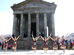 A ritual dance at the Temple of Garni.