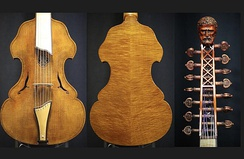 1997 Viola d'amore, crafted by Eric, Nancy and Hans Benning, Benning Violins.