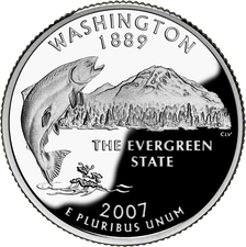 Reverse side of the Washington state quarter