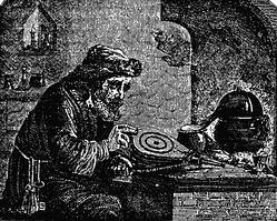 An alchemist, from the 1841/1852 editions of Extraordinary Popular Delusions.