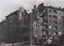 Destruction in the capital of Sofia as a result of the Anglo-American bombings over Bulgaria.