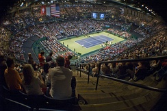 Interior of arena during 2009 Davis Cup