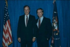 Schuette with President George H. W. Bush in 1990