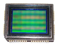 "CCD Sony ICX493AQA 10.14 (Gross 10.75) Mpixels APS-C 1.8"" (23.98 x 16.41mm) sensor side"