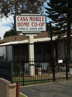 Casa Mobile Home co-op site of Henry Gage Mansion