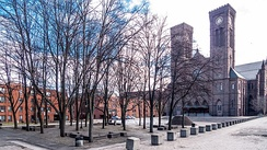 Providence's Cathedral Square, modeled after the Greek Agora marketplace