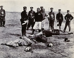 Boxers beheaded in front of a group of Chinese and Japanese officials