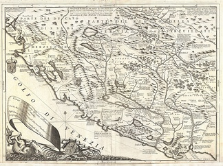Trieshi and Trieshant (the people of Trieshi) in 1688 by Venetian cartographer, Vincenzo Coronelli