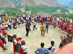 Dance of Swati Guests with traditional music at Baltit Fort in 2014