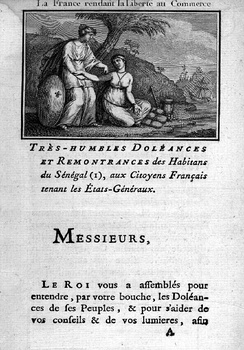 The List of Complaints of Saint-Louis du Sénégal (1789)