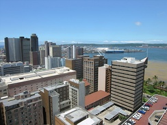 View of Durban Harbour