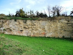 The former quarry, a nationally important site