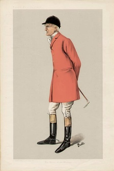 "Caricature of Mr Edgar Lubbock (1847–1907). ""The Master of the Blankney"". Published in Vanity Fair (1906)."