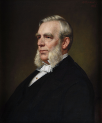 Gubernatorial portrait of New York Governor Edwin D. Morgan.