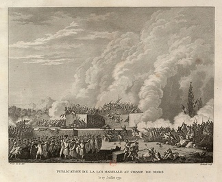 The National Guard fires on demonstrators in the Champ de Mars (July 17, 1791)